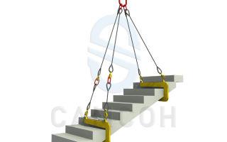 Захват для лестничного марша злм-1, злм-2. технология монтажа