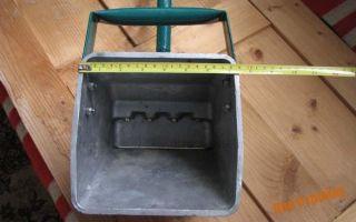 Хоппер-ковш для штукатурных работ. делаем своими руками