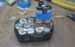 Банки для аккумулятора шуруповёрта. ремонт и замена