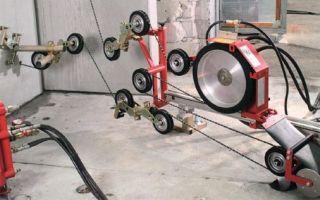 Стенорезная машина. дисковая и канатная резка