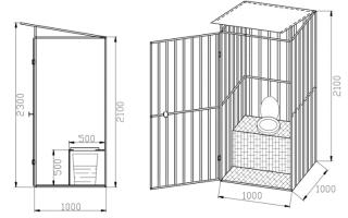 Деревянный туалет для дачи своими руками: чертежи, размеры, как построить
