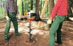 Бензиновый бур для земляных работ и установки столбов