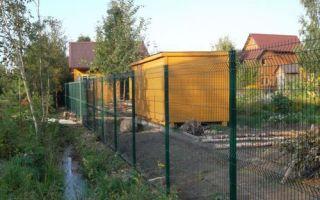Забор из сварной оцинкованной сетки – технология установки