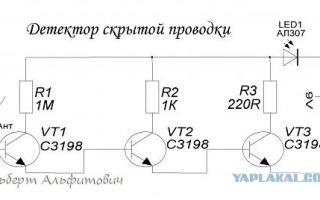 Детектор скрытой проводки. схема работы и рейтинг лучших моделей