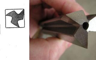 Сверло для квадратных отверстий. открытия рело и уаттса