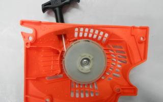 Стартер для бензопилы. устройство и ремонт своими руками