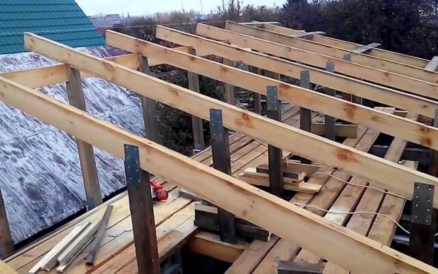Односкатная крыша: устройство конструкции стропильной системы, инструкция как сделать, видео и фото