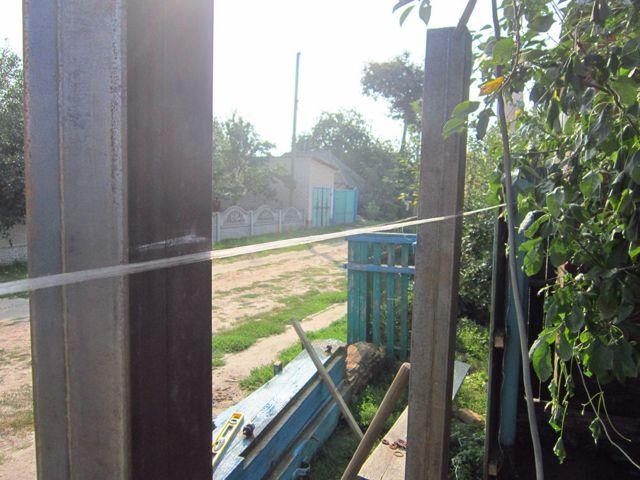 Ворота из профнастила своими руками – как сделать распашные ворота из профлиста с калиткой, изготовление и установка + фото-видео