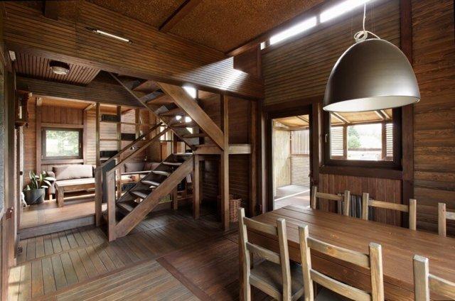Отделка вагонкой: фото того, как выглядит крашеная вагонка в интерьере деревянного дома или квартиры, и видео о том, как обшить стены своими руками