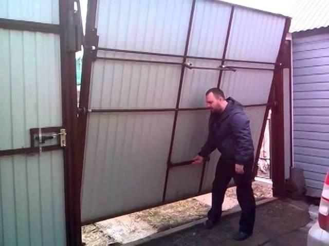 Металлические ворота своими руками: как сделать для дачи