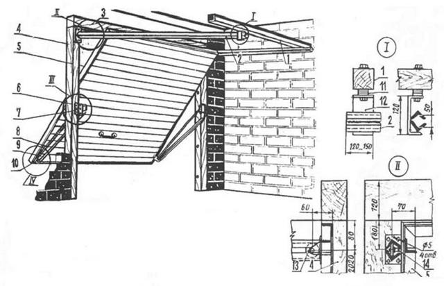Гаражные подъемные ворота своими руками: инструкция, чертежи, видео