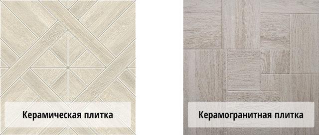 Керамогранит против керамической плитки как напольное покрытие для теплых полов