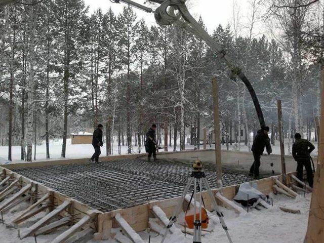 Бетонирование зимой: как бетонировать, можно ли, по СНиП