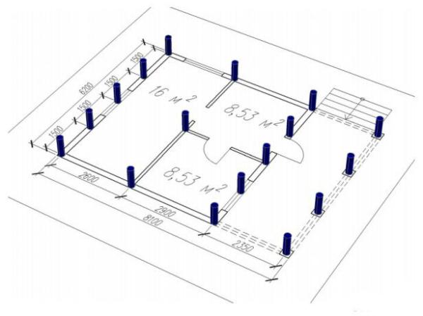 Монтаж винтовых свай своими руками: расчёт параметров свайного фундамента и подбор оборудования для установки