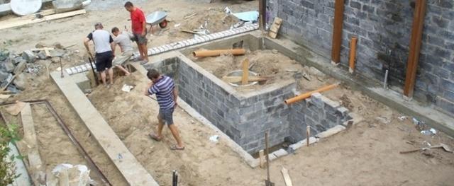 Как построить кирпичный гараж своими руками: фундамент, пол и толщина кладки