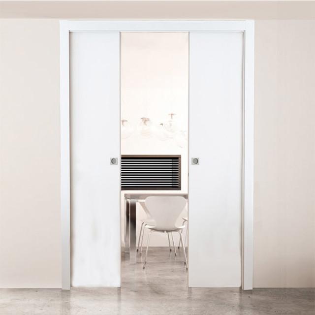 Раздвижная дверь в стену:плюсы, минусы, установка своими руками пенала