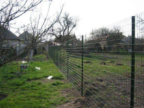 Забор из сварной оцинкованной сетки - технология установки