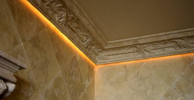 Потолок с подсветкой по периметру: своими руками светодиодное освещение, фото и видео монтажа, укрепление конструкции