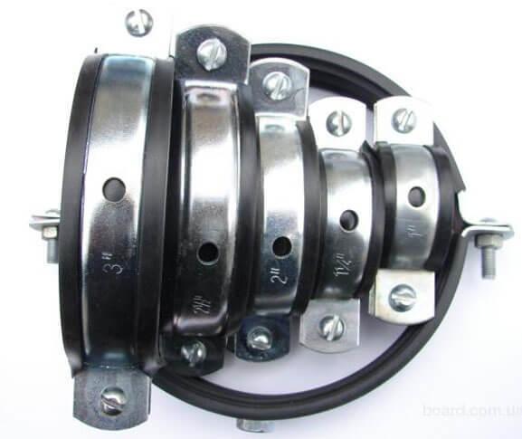 Хомут стальной для крепления труб: конструкции трубных хомутиков, кронштейнов, крепежных планок, характеристики