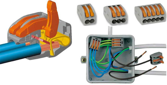 Соединение проводов: способы соединения в распределительной коробке, виды зажимов