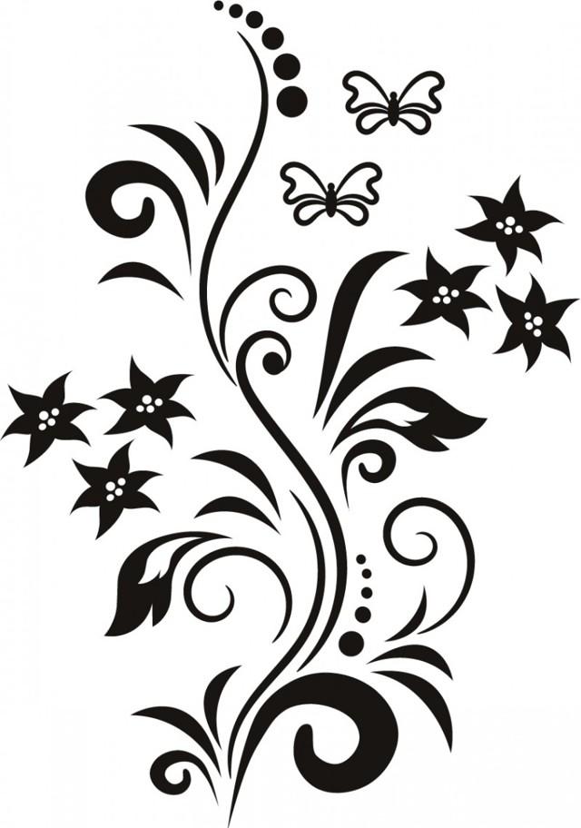 Трафареты для декора - особенности выбора, варианты размещения и сочетаний трафаретов