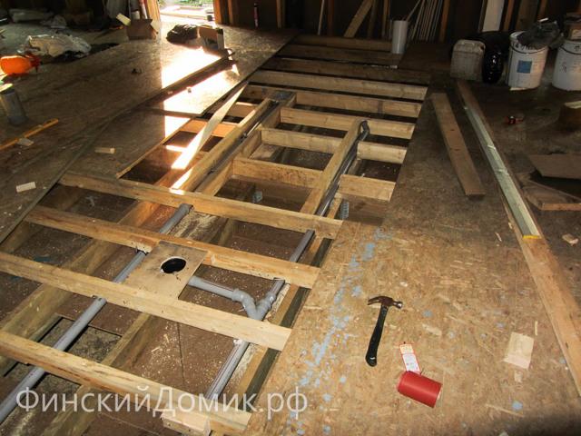 Канализация в доме на винтовых сваях: устройство в каркасном доме