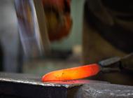 Ковка «дамасского» ножа своими руками с мелким узором из спрессованной стали (как выковать без использования силового молота)