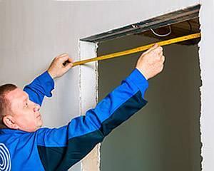 Размеры входных дверей, в том числе стандартные, а также, как правильно произвести замер