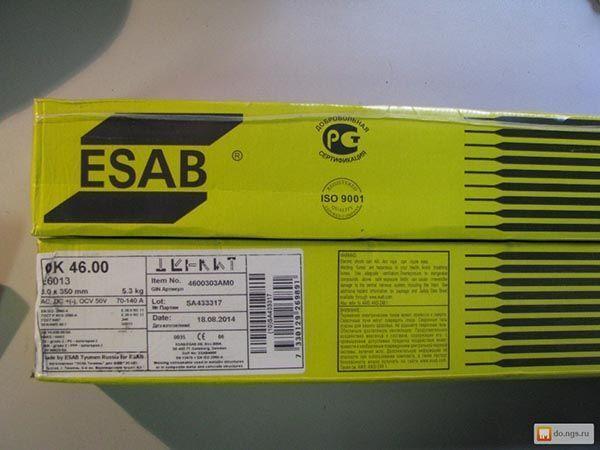 Электроды ESAB ОК 46.00 – характеристики, плюсы и минусы