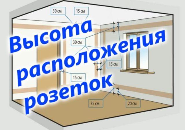 Какая высота розеток от пола является оптимальной в разных комнатах